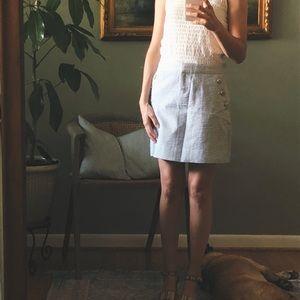 Jcrew seersucker skirt